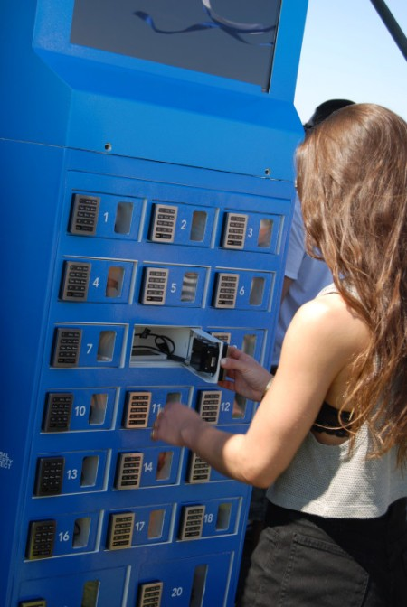 gocharge cell phone charging station at festivals