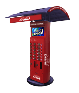 goCharge The Eagle - An Indoor/Outdoor Cell Phone Charging Kiosk