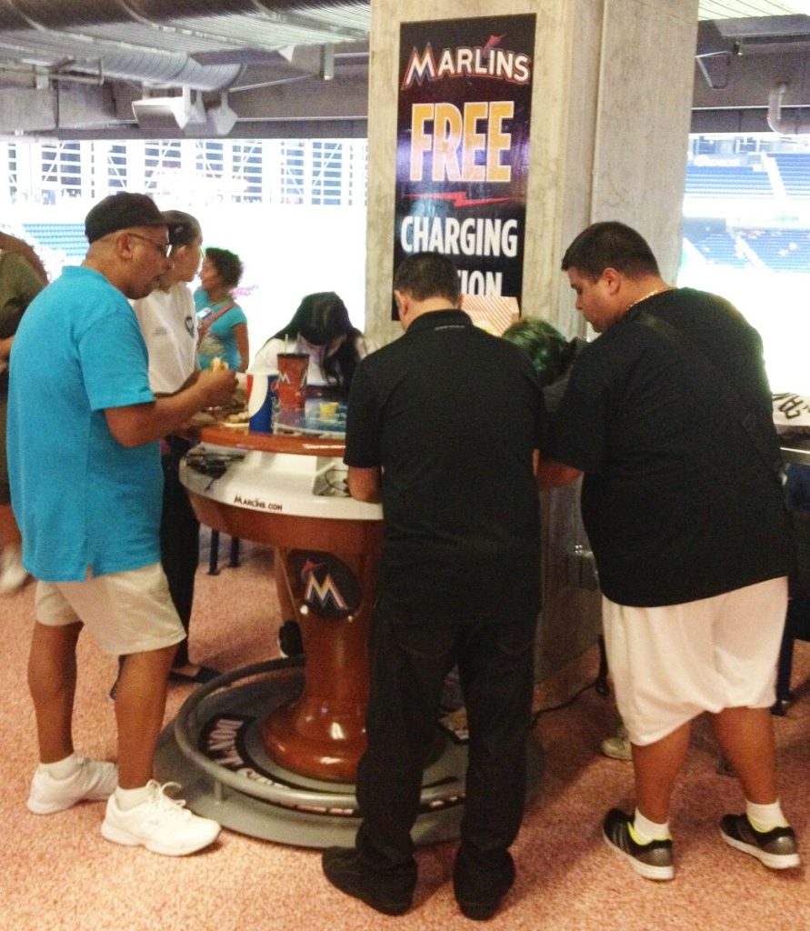 Major League Baseball and goCharge Cell phone Charging Stations